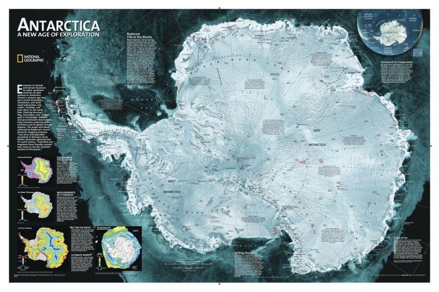 Antarctica Satellite Map