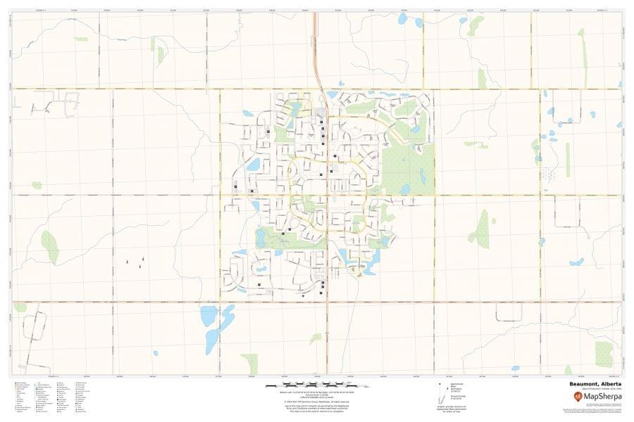 Beaumont Alberta Map