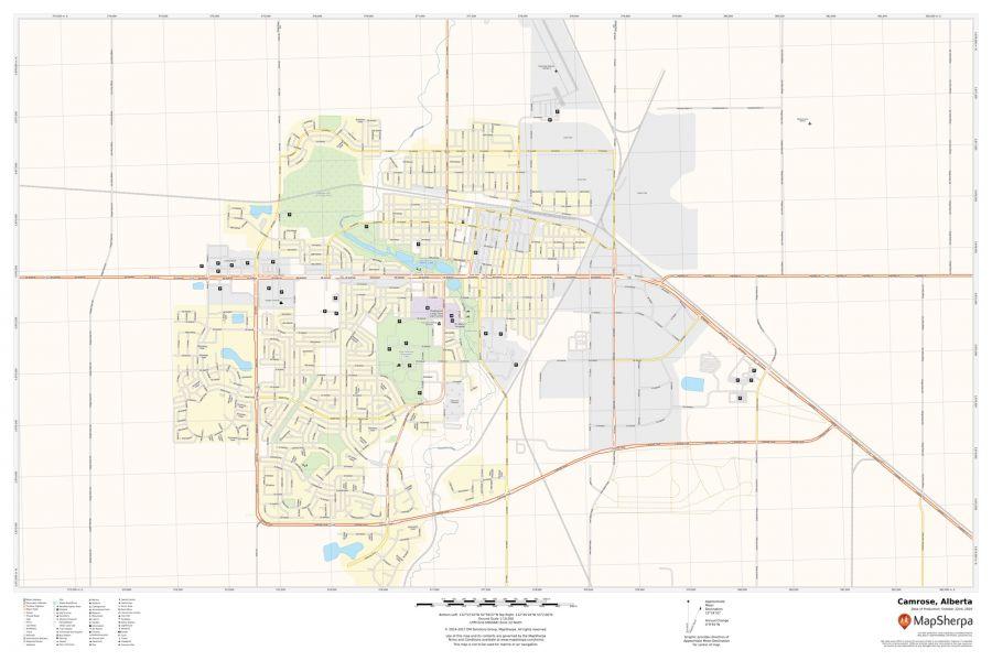 Camrose Alberta Map