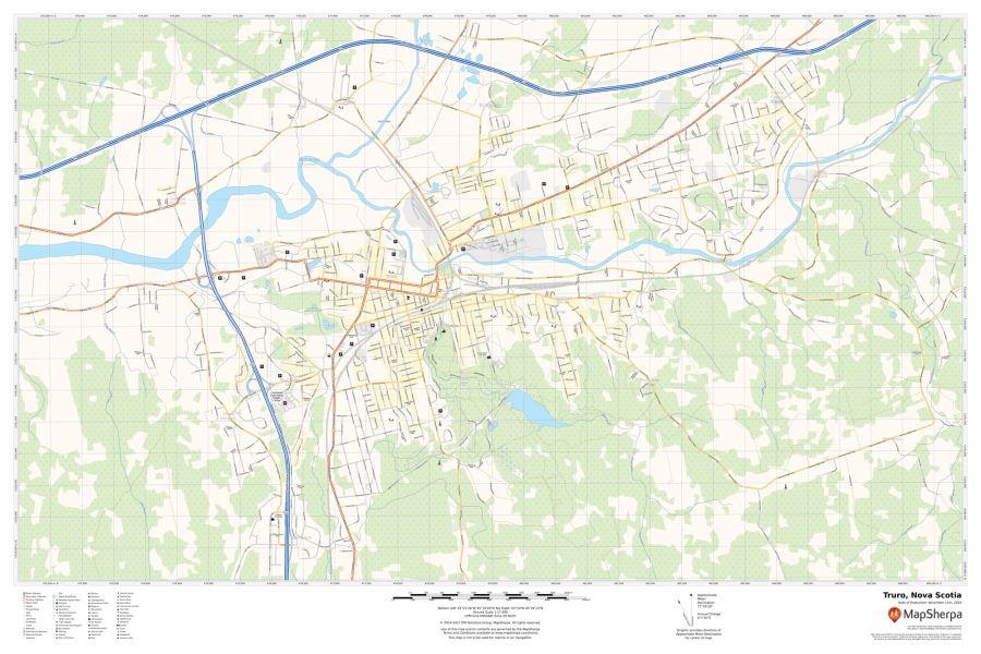 Truro Nova Scotia Map