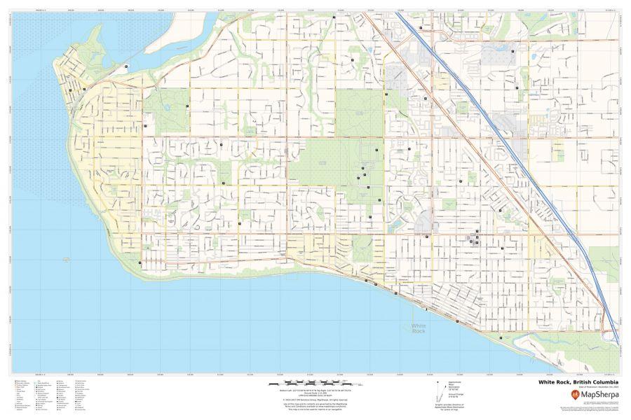 White Rock British Columbia Map