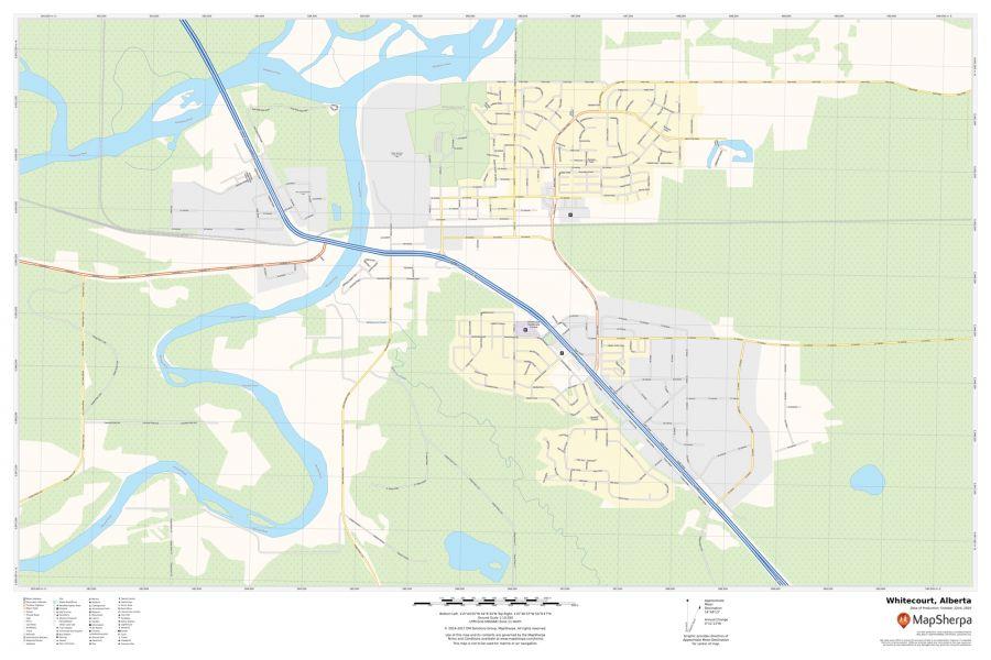 Whitecourt Alberta Map