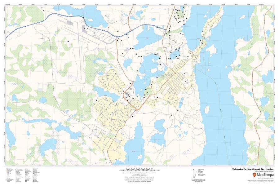 Yellowknife Northwest Territories Map