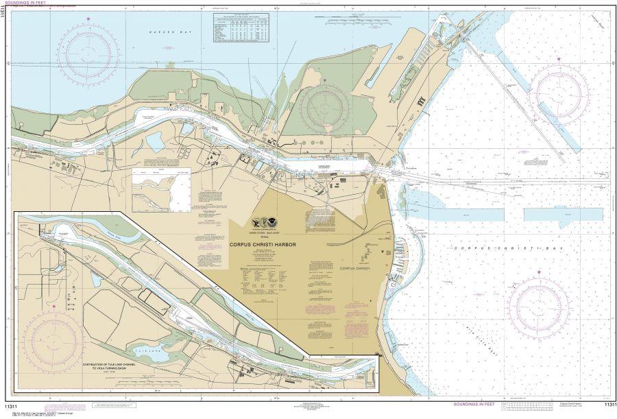 Noaa Chart 11311 Corpus Christi Harbor