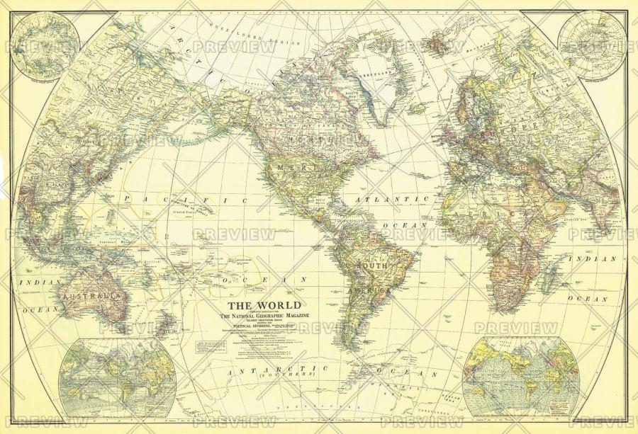 World Published 1922 Map