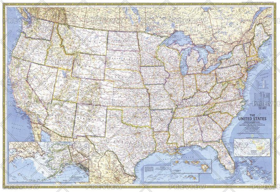 United States Published 1987 Map