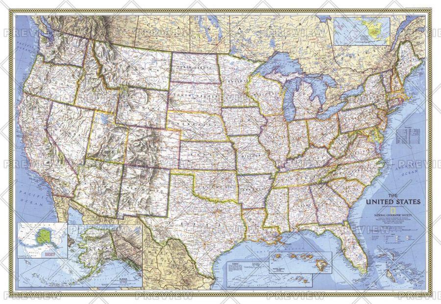 United States Published 1993 Map