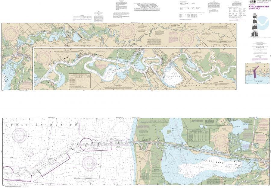 Noaa Chart 11347 Calcasieu River And Lake