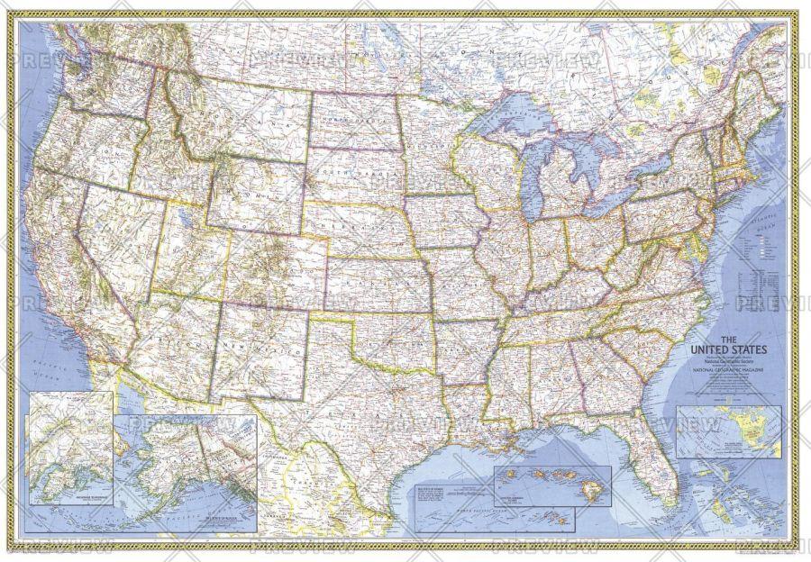 United States Published 1976 Map