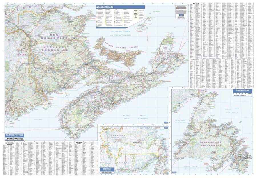 Maritimes Wall Map Large