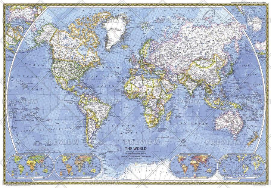 World Published 1981 Map