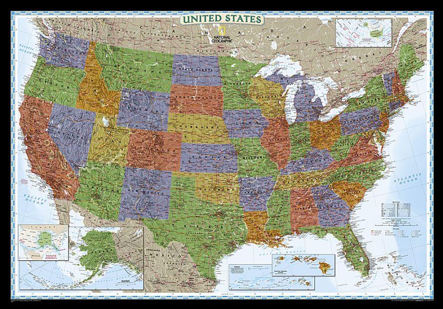 United States Decorator Map