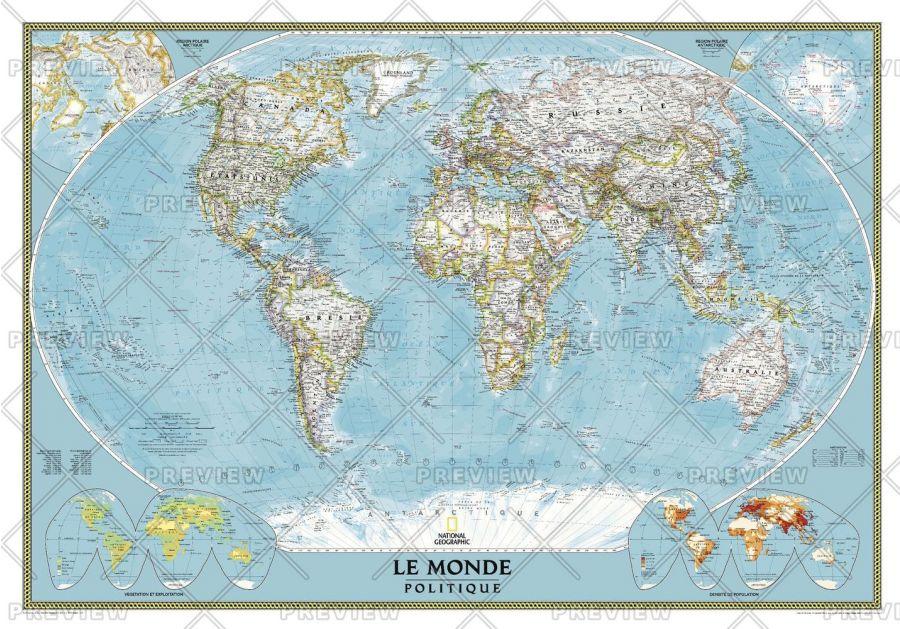 World French Published 2012 Map