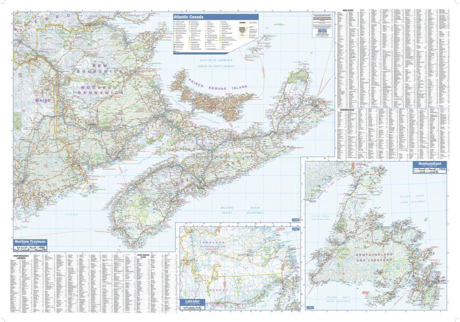 Maritimes Wall Map