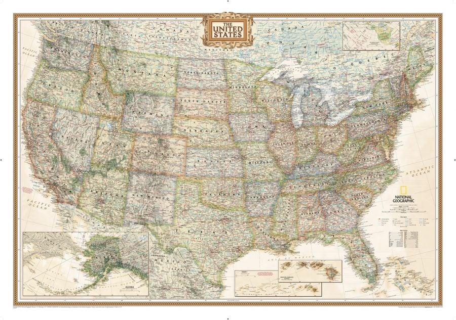 United States Executive Map