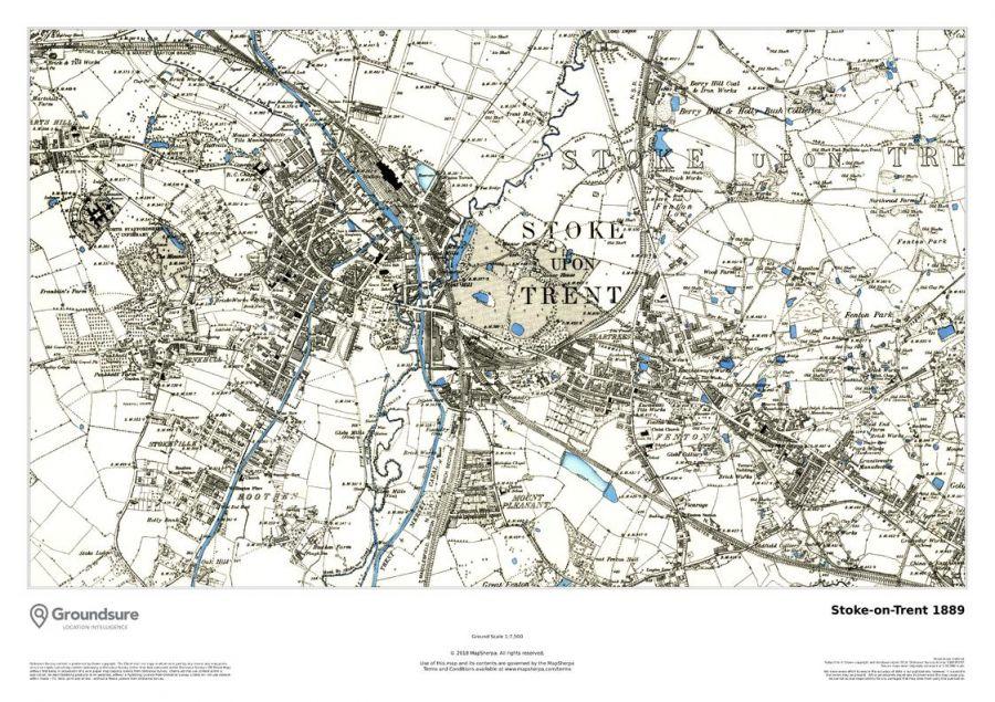 Stoke-on-Trent Map 1889