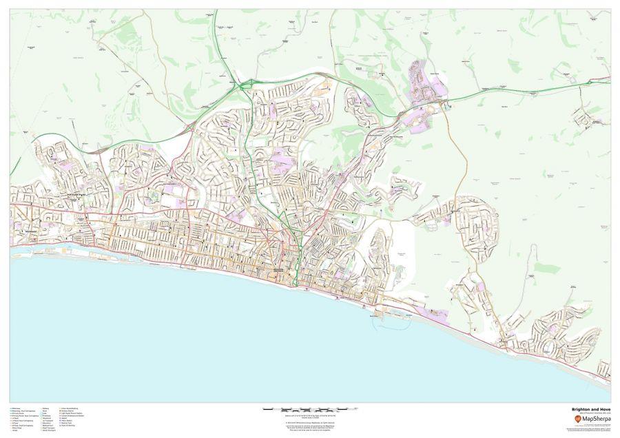 Brighton and Hove Map