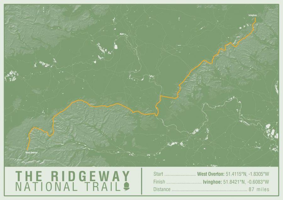 The Ridgeway National Trail Map Print