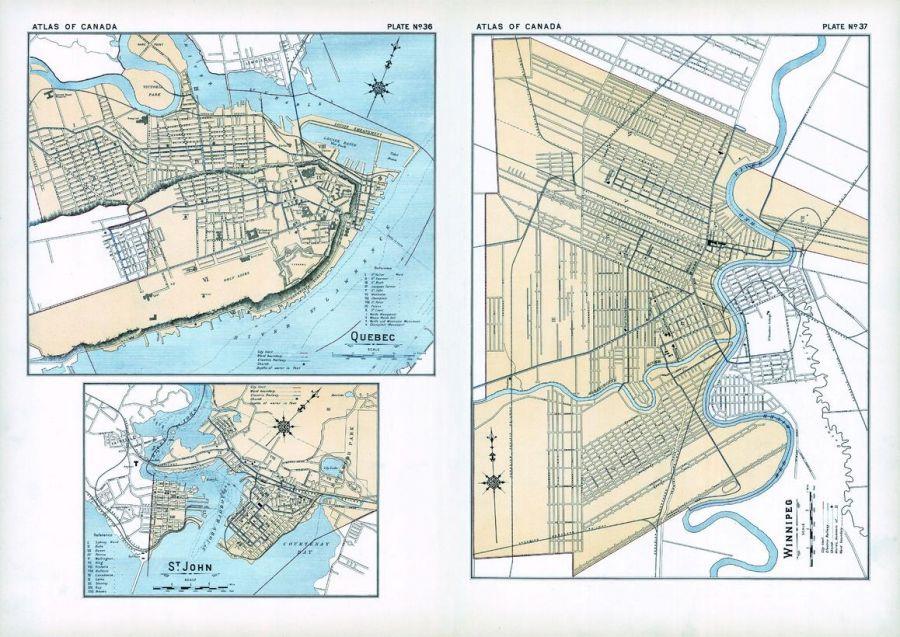 Quebec St John Winnipeg 1906 Map
