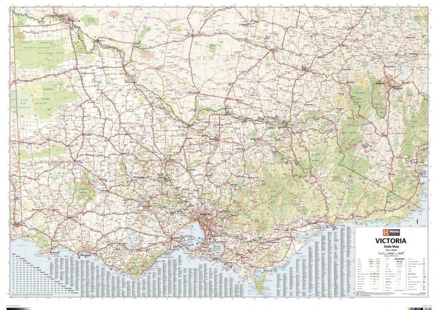 Victoria Australia State Wall Map