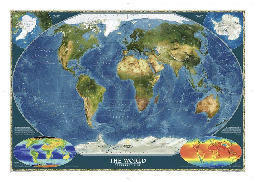 World Satellite Map