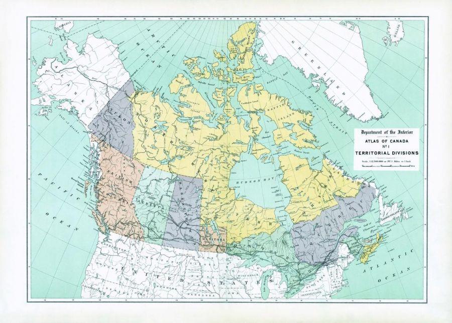 Territorial Divisions 1906 Map