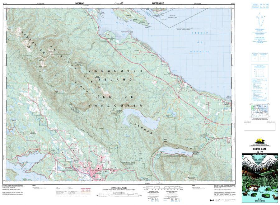 Horne Lake - 92 F/7 - British Columbia Map