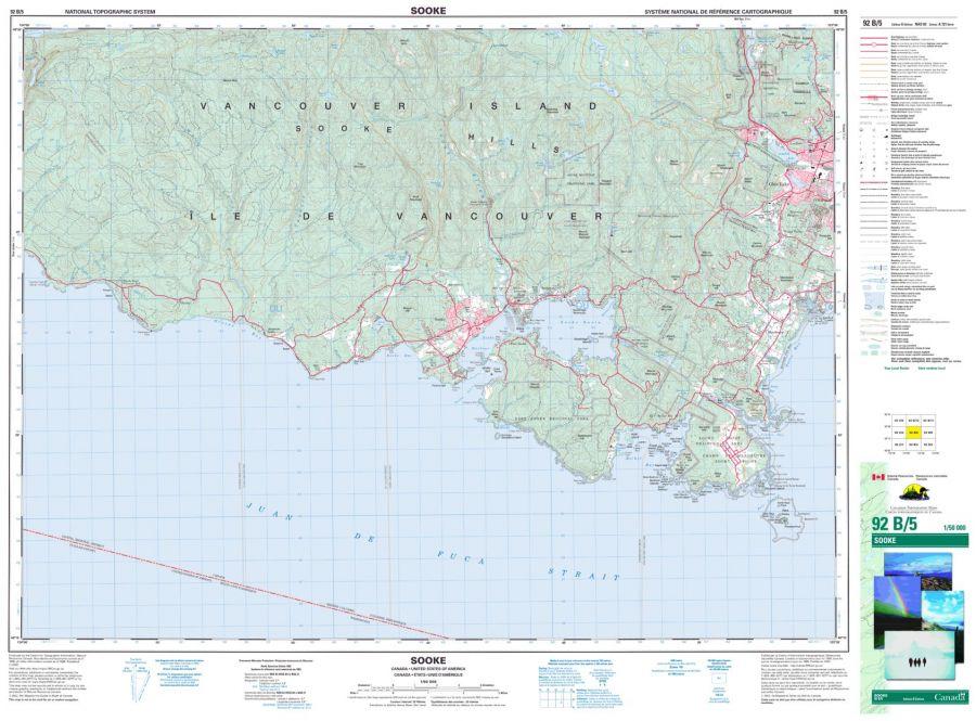 Sooke - 92 B/5 - British Columbia Map