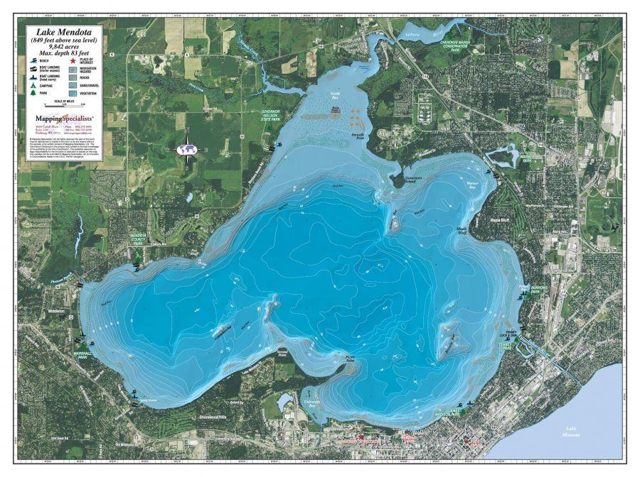 Lake Mendota Map