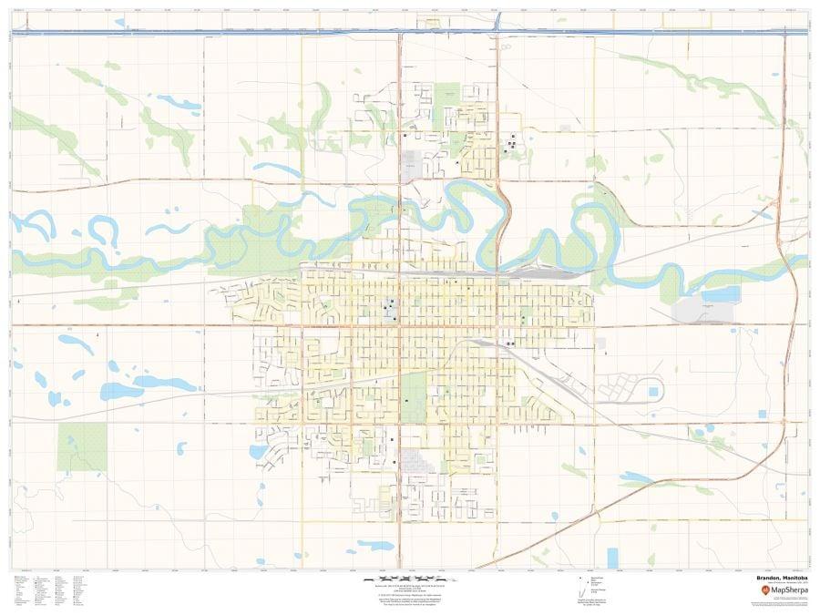 Brandon Manitoba Map