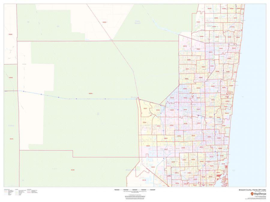 Broward County Florida Zip Codes Map