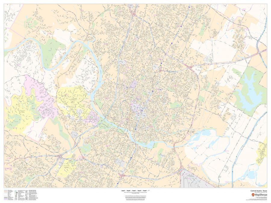 Central Austin Texas Landscape Map