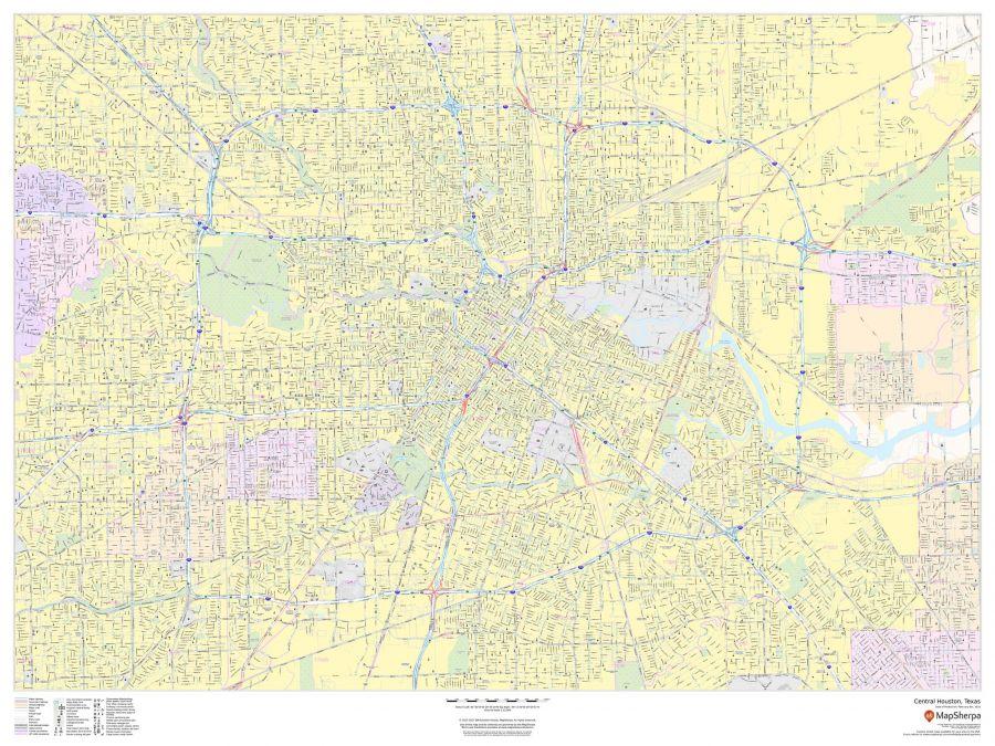 Central Houston Texas Landscape Map