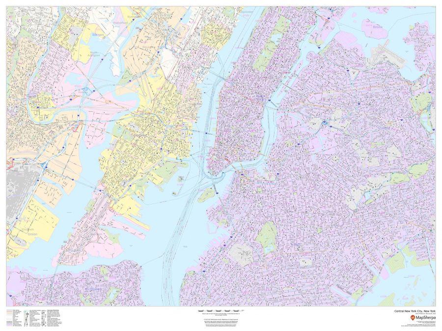 Central New York City New York Landscape Map