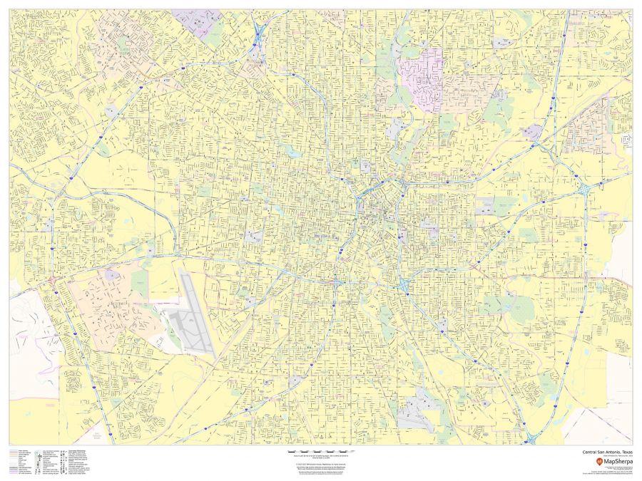 Central San Antonio Texas Landscape Map
