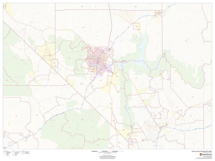 Clark County Nevada Zip Codes Map