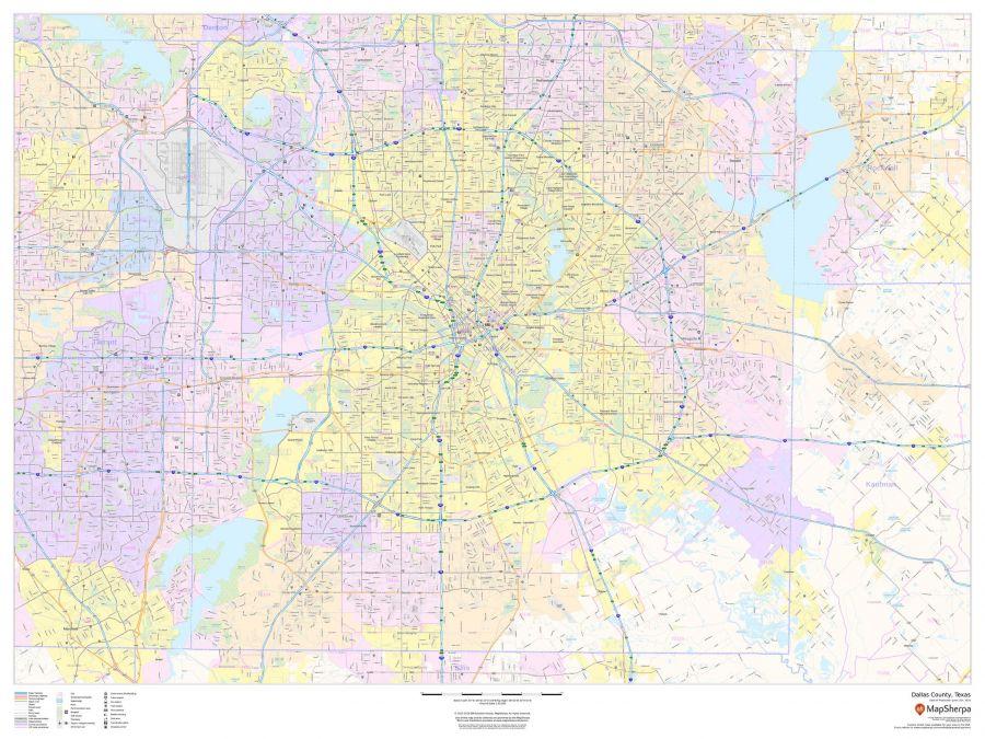 Dallas County Texas Map