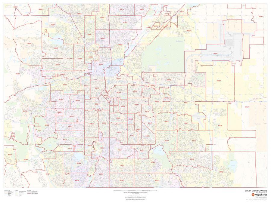 Denver Colorado Zip Codes Map