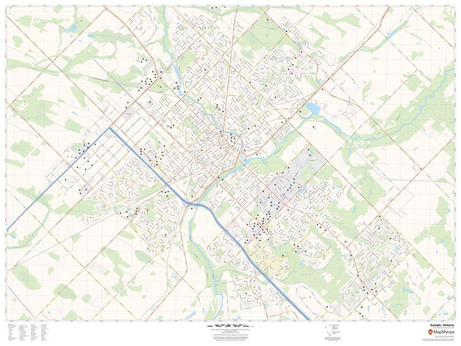 Guelph Ontario Map