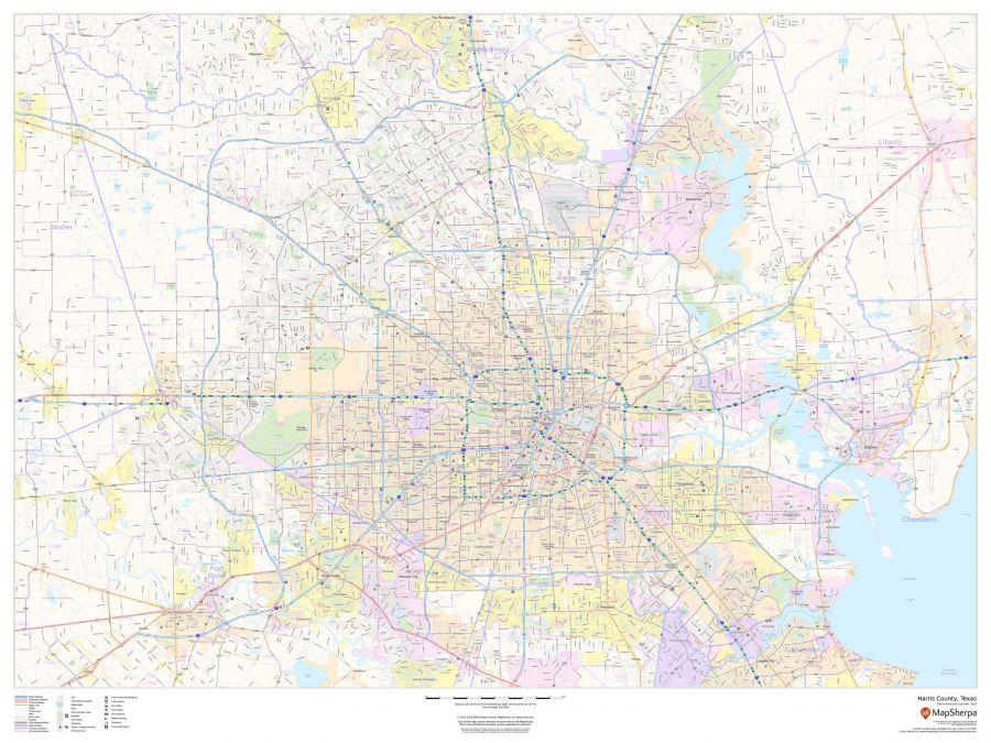 Harris County Texas Map