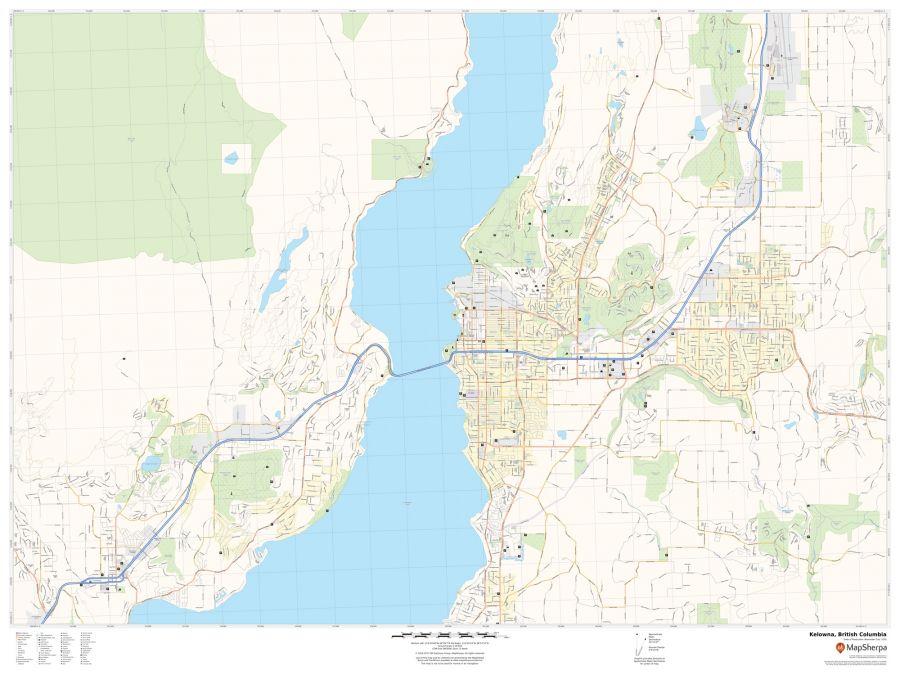 Kelowna British Columbia Map