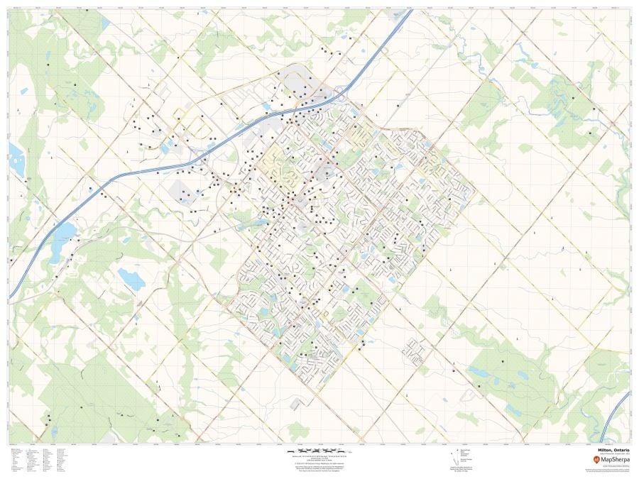 Milton Ontario Map