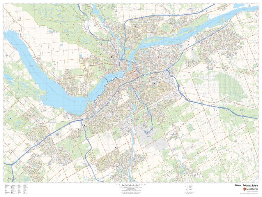 Ottawa - Gatineau Ontario Map