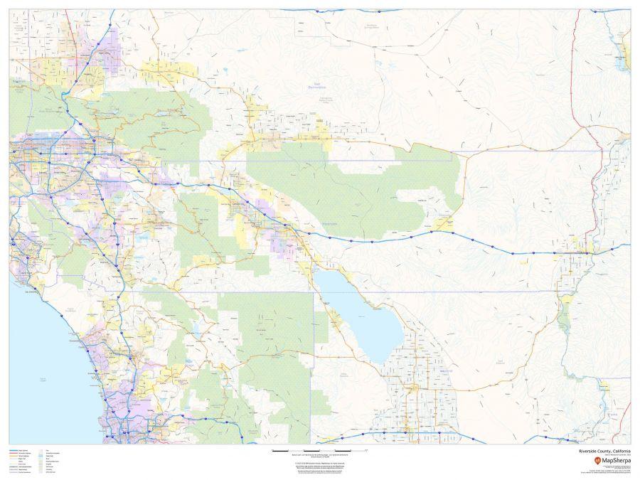 Riverside County California Map