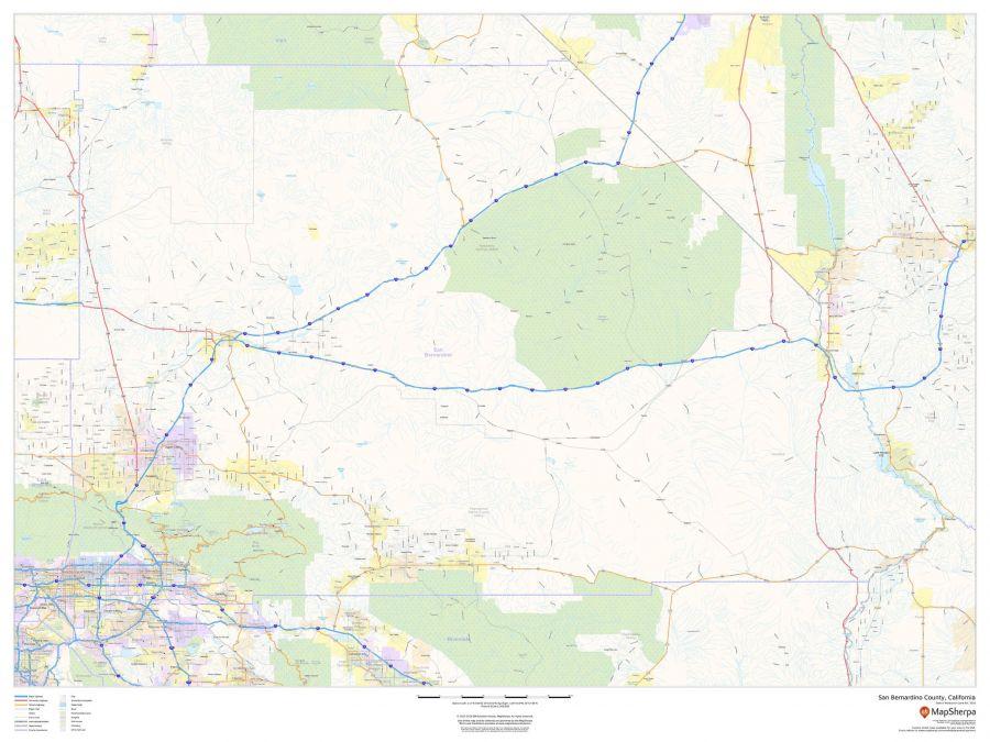 San Bernardino County California Map