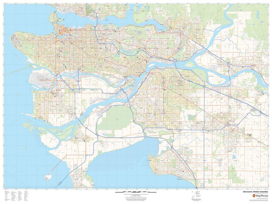 Vancouver British Columbia Map