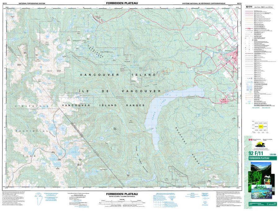 Forbidden Plateau - 92 F/11 - British Columbia Map