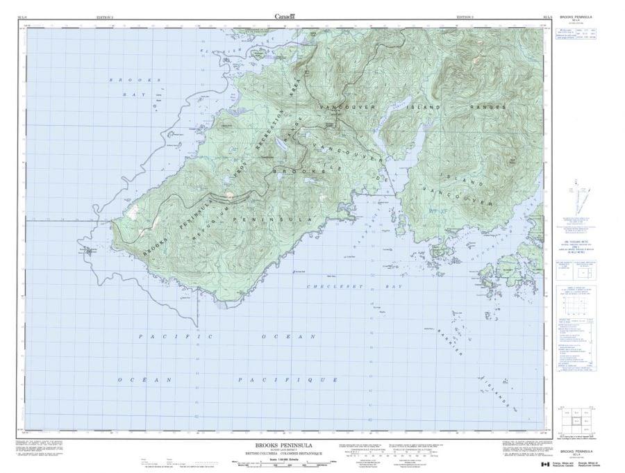 Brooks Peninsula - 92 L/4 - British Columbia Map