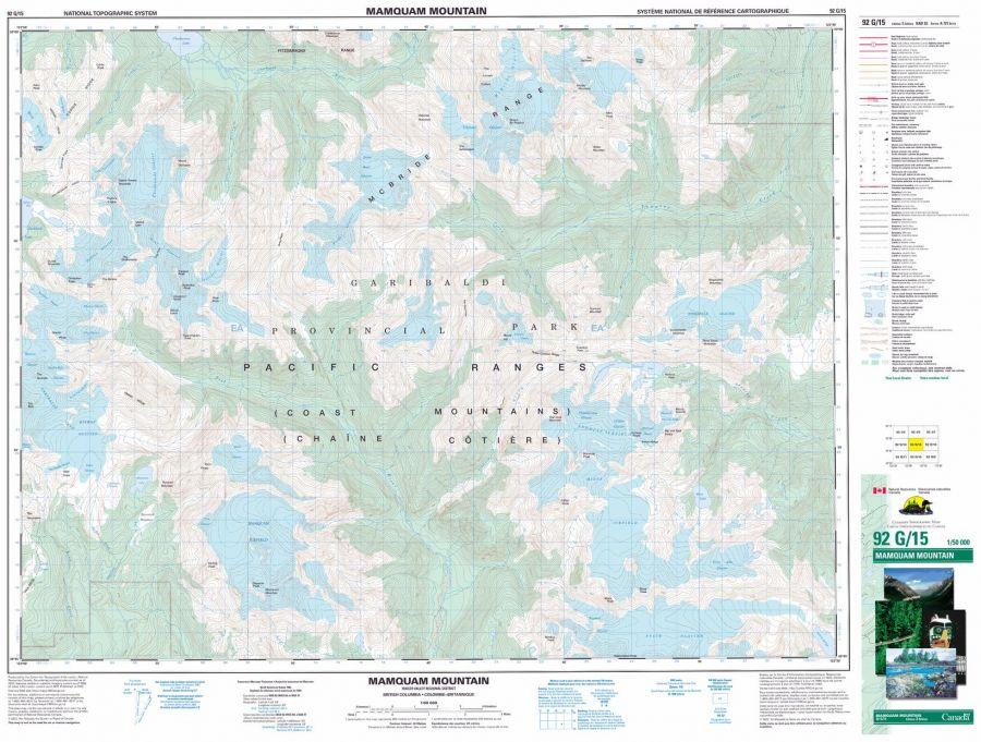 Mamquam Moutain - 92 G/15 - British Columbia Map
