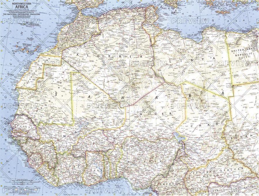 Northwestern Africa Published 1966 Map